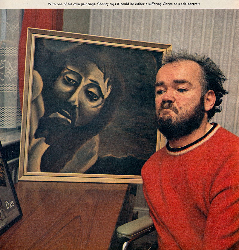 christy-with-painting-1972