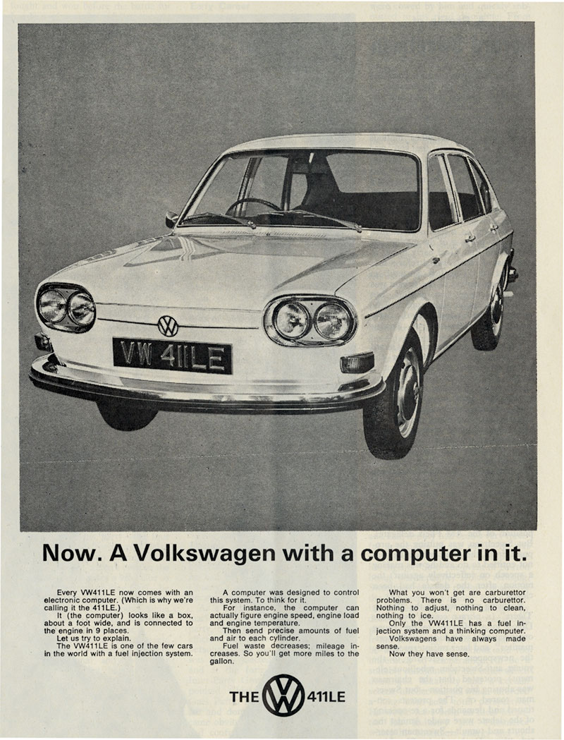 VOLKSWAGEN WITH A COMPUTER IN IT 1970