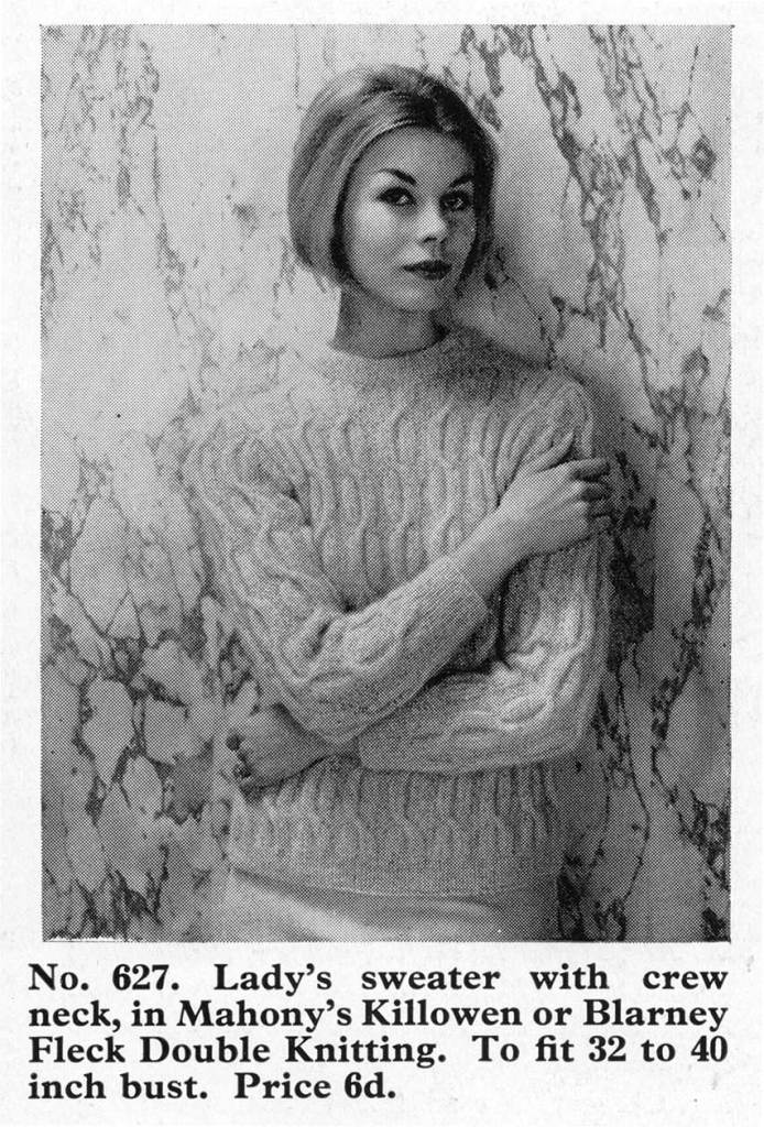 mahony's lady sweater knitting wool