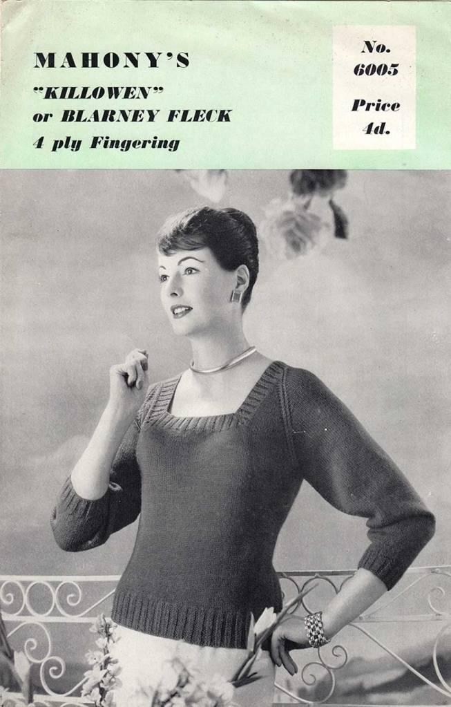 mahony's lady sweater blarney fleck