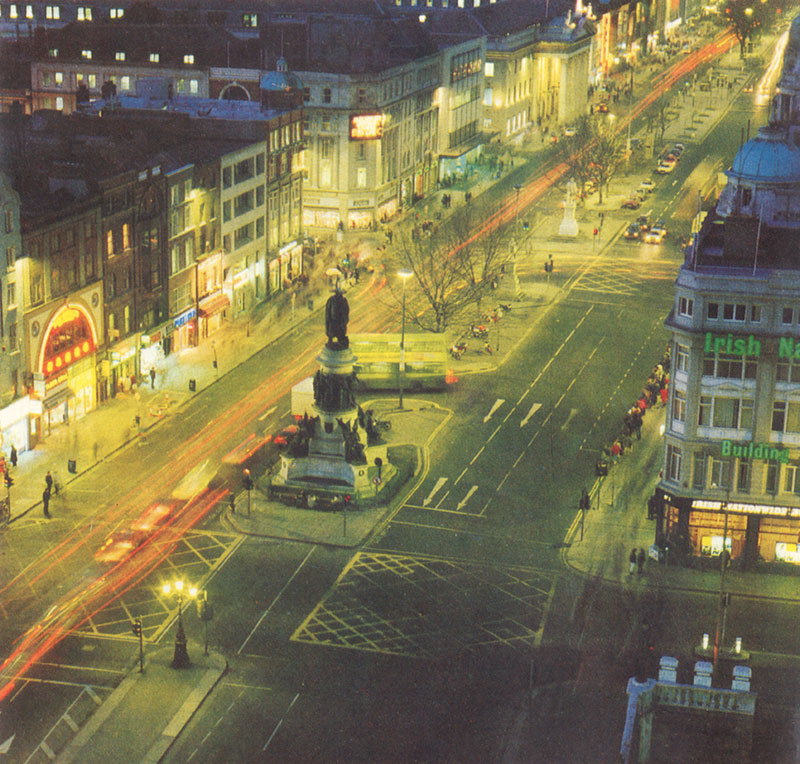 aerial view, looking north up o'connell st